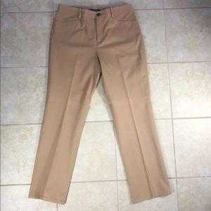 Lauren Ralph Lauren Tan Stretch High Rise Pants!